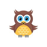 Hibou coloré illustration stock