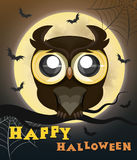 Hibou d'affiche de Halloween Photos stock