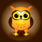 Hibou d'orange de dessin animé Photographie stock
