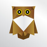 Hibou d'origami Illustration Stock