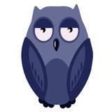 Hibou de bleu d'illustration Photo stock