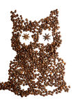 Hibou de café image stock