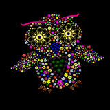 Hibou de fleur Photo libre de droits