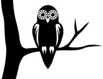 Hibou de silhouette Photo libre de droits