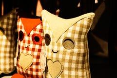 Hibou deux dans l'amour Image libre de droits