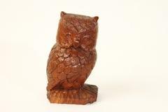 Hibou en bois de Briown Photographie stock