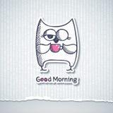 Hibou et tasse de café, vecteur ENV 10 Photos stock