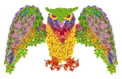 Hibou floral Image libre de droits