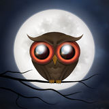 Hibou mignon heureux de Halloween Photo libre de droits