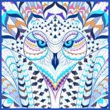 Hibou neigeux modelé Image stock