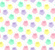 Hibou rayé coloré Photo libre de droits