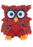 Hibou rouge illustration de vecteur
