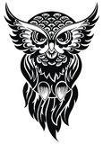 Hibou Tatouage Design Photographie stock