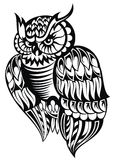Hibou Tatouage Design Images libres de droits