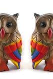 Hiboux colorés Images libres de droits