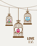 Hiboux d'amour Image libre de droits