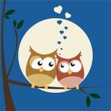 Hiboux dans l'amour illustration libre de droits