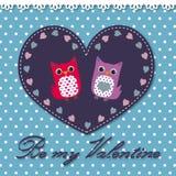 Hiboux dans l'amour Image stock