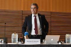HICHAM EL AMRANI_CEO MORACO出价委员会 图库摄影