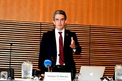 HICHAM EL AMRANI_CEO MORACO出价委员会 免版税库存照片