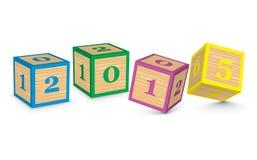 2015 hicieron de bloques del juguete Fotografía de archivo