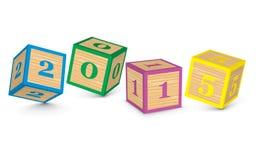 2015 hicieron de bloques del juguete Foto de archivo libre de regalías