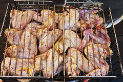 Сhicken wings on the barbecue Royalty Free Stock Photo