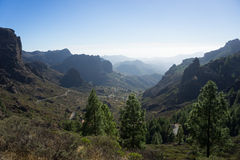 Hicking to Roque Nublo Stock Images