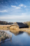 Hickling Boathouse Obraz Stock