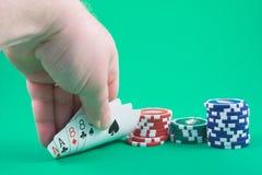 hickoks för död hand bemannar poker royaltyfria bilder