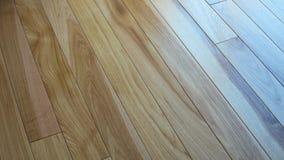 Hickory houten natuurlijke vloer voor textuurachtergrond royalty-vrije stock afbeelding