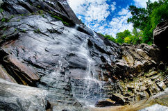 Hickory Nut Falls in Chimney Rock State Park North Carolina Unit. Ed States Royalty Free Stock Images