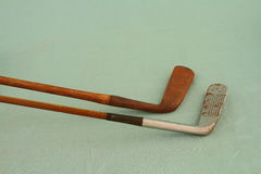 Hickory shafted golfclubs Royalty-vrije Stock Foto