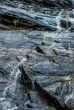 Hickorynusswasserfälle während des Tageslichtsommers Stockfotografie
