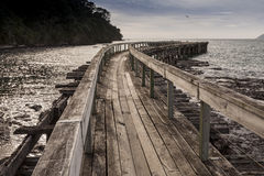 Hicks Bay wharf Royalty Free Stock Photo