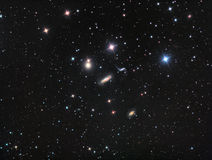 Hickson 44 Galaxy Group. Imaged with a telescope and a scientific CCD camera stock photo