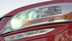 HID Bi-Xenon Car Headlight in Action - FullHD stock video