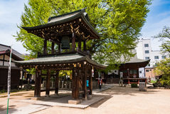 Hida Kokubunji Temple, Takayama, Japan. Takayama, Japan - May 2, 2016: Bell tower at Hida Kokubunji Temple, Takayama, Japan. The Hida Kokubunji Temple was Stock Photography