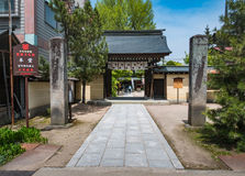 Hida Kokubunji Temple, Takayama, Japan. Takayama, Japan - May 2, 2016: Entrance of Hida Kokubunji Temple, Takayama, Japan. The Hida Kokubunji Temple was Stock Photography