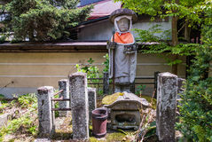 Hida Kokubunji Temple, Takayama, Japan. Takayama, Japan - May 2, 2016: Jizo statue at Hida Kokubunji Temple, Takayama, Japan. The Hida Kokubunji Temple was Royalty Free Stock Image