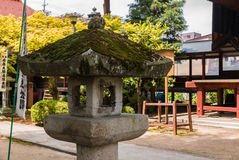 Hida Kokubunji Temple, Takayama, Japan. Takayama, Japan - May 2, 2016: Stone lantern at Hida Kokubunji Temple, Takayama, Japan. The Hida Kokubunji Temple was Royalty Free Stock Image