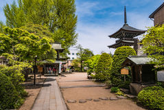 Hida Kokubunji Temple, Takayama, Japan. Takayama, Japan - May 2, 2016: Hida Kokubunji Temple, Takayama, Japan. The Hida Kokubunji Temple was constructed in 746 Stock Image