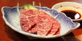 Hida-Rindfleischsashimi stockfoto