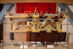 Display of festival floats yatai in Takayama royalty free stock photo