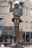 Hida Takayama`s long-legged giant statue in Takayama, Japan royalty free stock photos