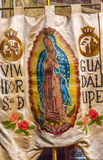Hidalgo Guadalupe Banner Sanctuary of Jesus Atotonilco Mexico royalty free stock photography