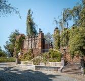 Hidalgoslott på Santa Lucia Hill - Santiago, Chile royaltyfria foton
