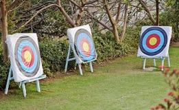 Hidden archery target range Stock Images