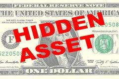Hidden Asset - financial concept Stock Photography