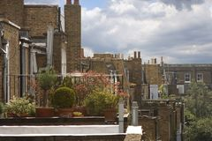 Hidden balcony gardens of Chelsea Stock Photo